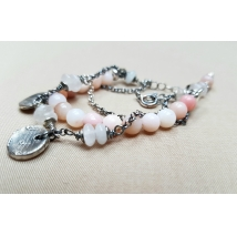 Sterling Silber-Armband mit Opal