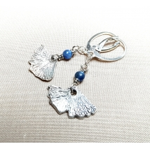 Sterling sliver earrings with  lapis