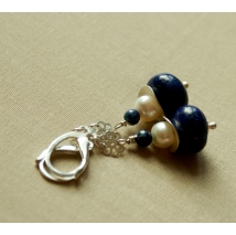 Sterling sliver earrings with lapis lazuli
