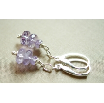 Sterling sliver earrings with  amethyste