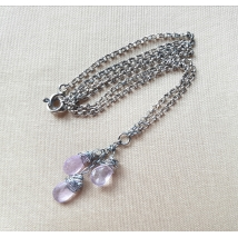 Sterling sliver necklace with morganite