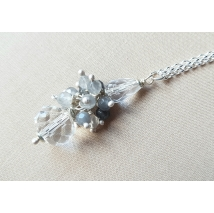Sterling sliver necklace with mountain crystal