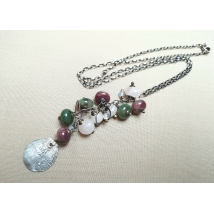 Sterling sliver necklace with tourmaline