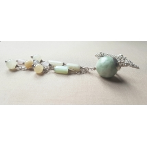 Sterling sliver necklace with jadeite