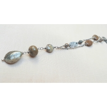 Sterling sliver necklace with Jasper