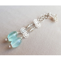 Sterling sliver earrings with fluorite