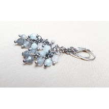 Sterling sliver earrings with grey quartz