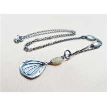 Sterling sliver necklace with Labradorit