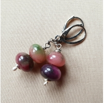 Sterling sliver earrings with tourmaline